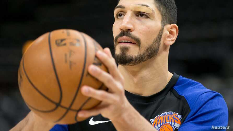 FILE - New York Knicks center Enes Kanter (00) warms up prior to the game against the Utah Jazz at Vivint Smart Home Arena. (Credit: Russ Isabella-USA TODAY Sports)