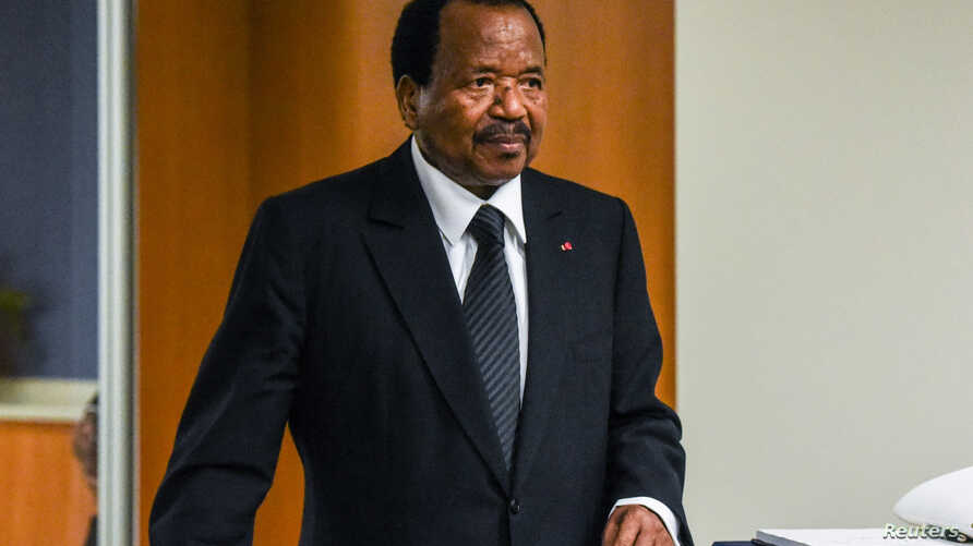 Cameroon's President Paul Biya is seen at the 72nd United Nations General Assembly at U.N. headquarters in New York, Sept. 22, 2017.