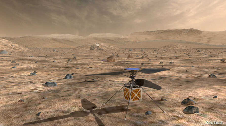 NASA's Mars Helicopter, a small, autonomous rotorcraft, which will travel with the agency's Mars 2020 rover, scheduled to launch in July 2020, to demonstrate the viability and potential of heavier-than-air vehicles on the Red Planet, is shown in this
