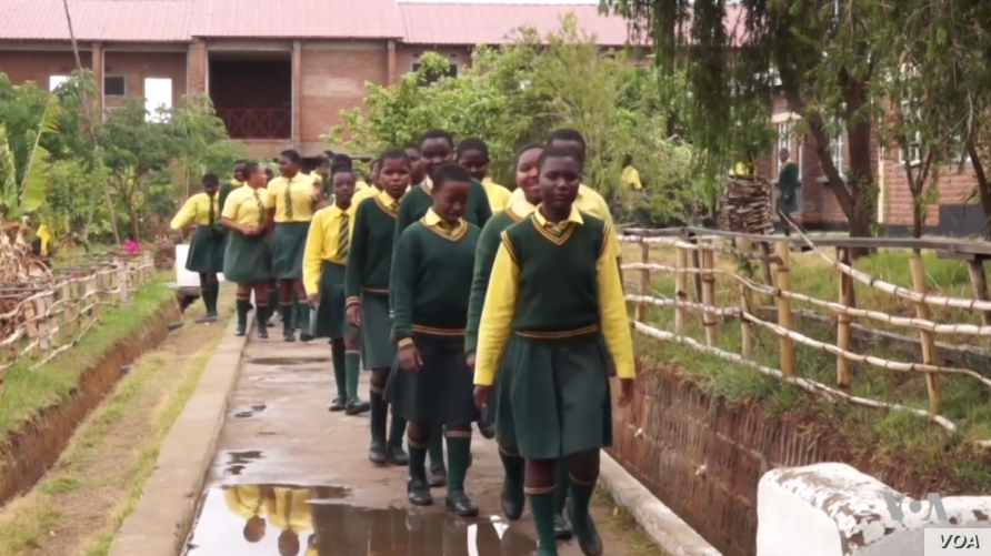 Students at Atsikana Pa Ulendo (APU) or Girls on the Move Secondary School in Malawi.