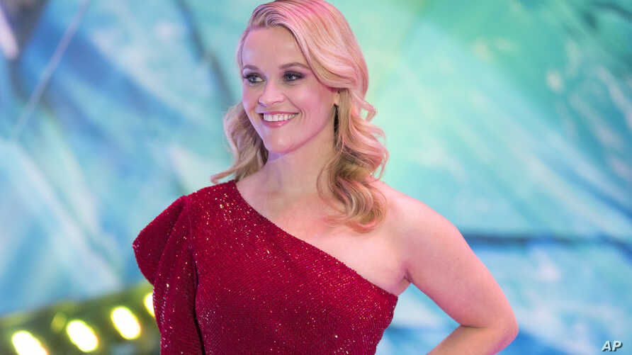 """Reese Witherspoon arrives at the world premiere of """"A Wrinkle in Time"""" in Los Angeles, Feb. 26, 2018."""