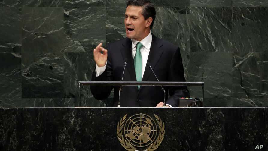 President Enrique Peña Nieto, of Mexico, addresses the 69t