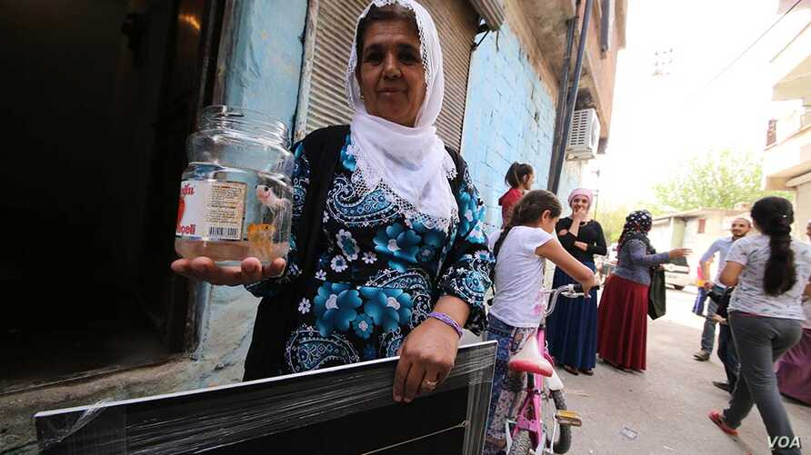 Fatma Oren's family did not forget to take their goldfish