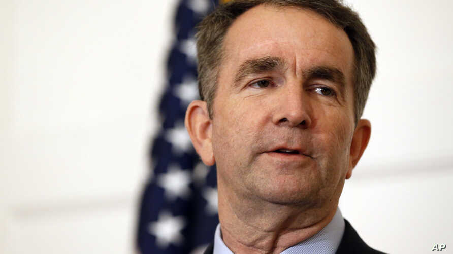 FILE - Virginia Gov. Ralph Northam speaks during a news conference in the Governor's Mansion in Richmond, Va., Feb. 2, 2019.