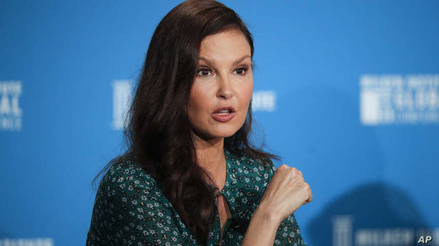 Actress Ashley Judd speaks during a discussion on feminism at the Milken Institute Global Conference, April 30, 2018, in Beverly Hills, California.