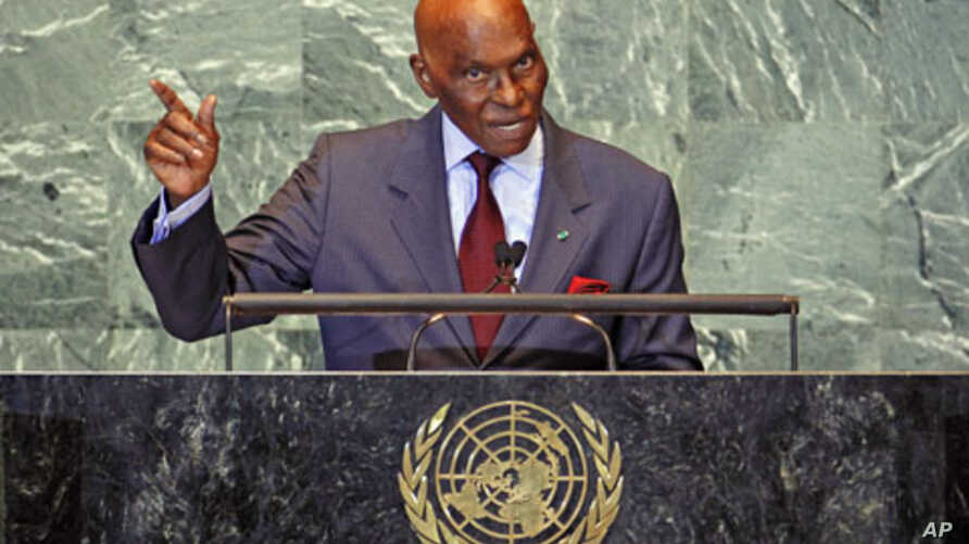 Senegal's President Abdoulaye Wade addresses the 66th United Nations General Assembly at the U.N. headquarters in New York, September 2011. (file photo)
