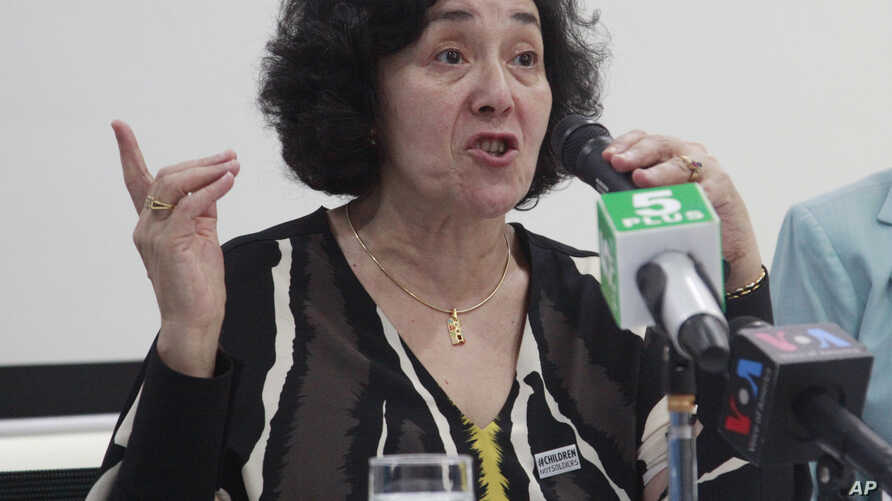 Leila Zerrougui, special representative of the Secretary-General for Children and Armed Conflict, talks to journalists during a press conference at UNICEF office as she concludes her five-day visit to the nation, July 16, 2015 in Yangon, Myanmar. Her