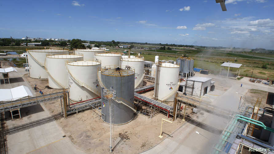 FILE - A view of the Patagonia Bioenergia biodiesel plant in San Lorenzo, Argentina.