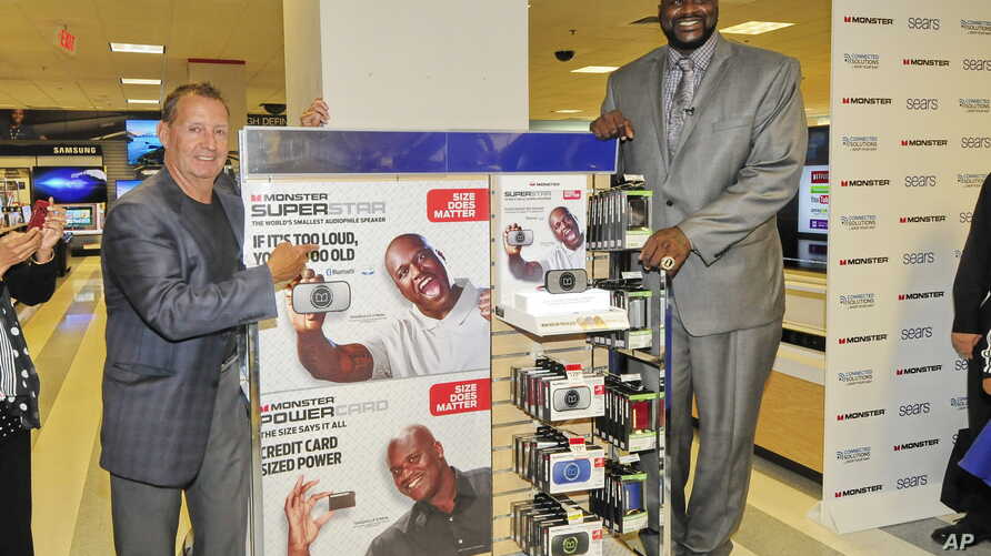 Shaquille O'Neal promotes products, and signs autographs at a Sears store in Schaumburg, Illinois, Aug. 13, 2014.