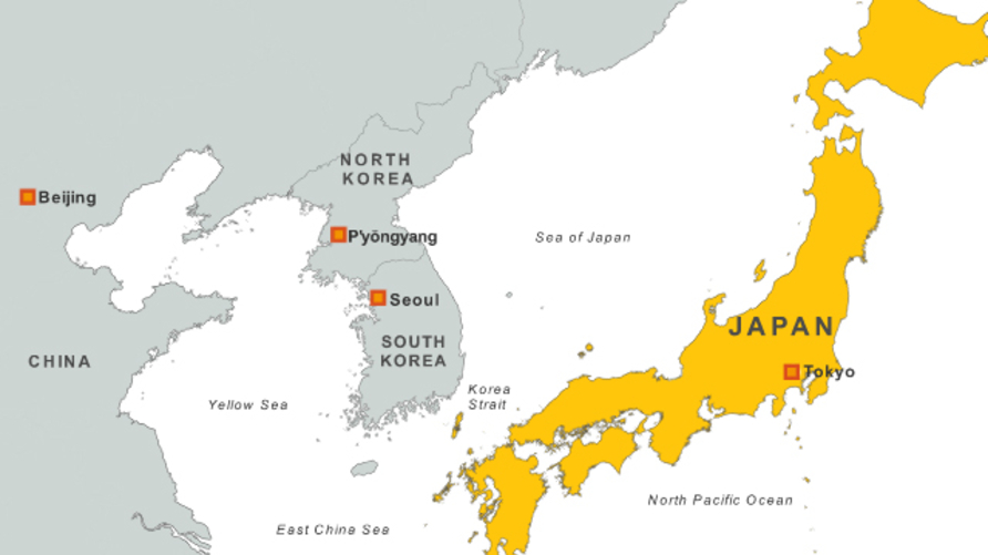 Map of Japan.