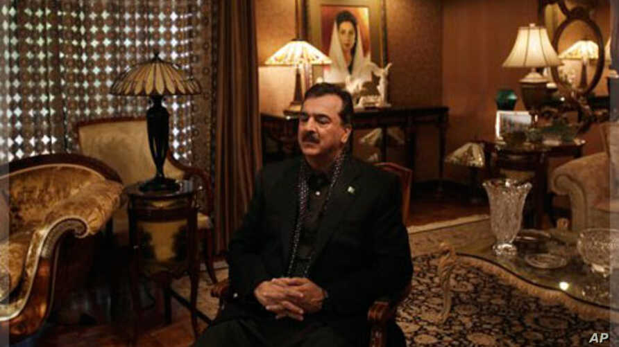 Pakistani Prime Minister Yousuf Raza Gilani during an interview with The Associated Press at his residence in Lahore, Pakistan, December 5, 2011.