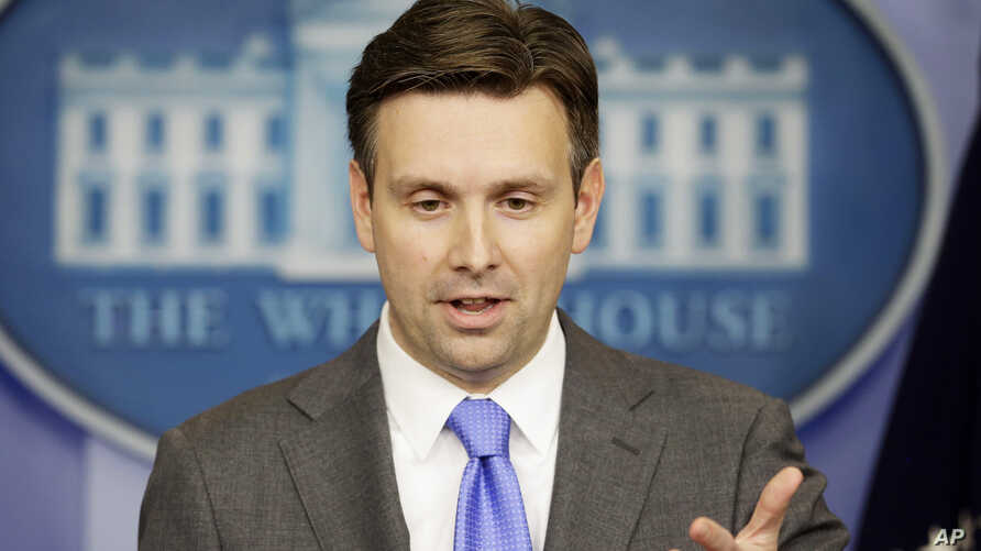 White House Deputy press secretary Josh Earnest takes a question during the daily news briefing at the White House, Nov. 21, 2013.