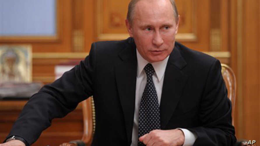 Russian Prime Minister Vladimir Putin speaks during a cabinet meeting in Moscow, Russia, December 26, 2011.
