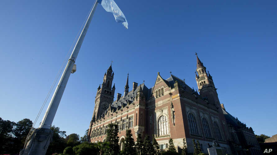 Netherlands World Court Nuclear Disarmament: Exterior view of the Peace Palace, also known as the World Court, in The Hague, Netherlands, Wednesday, Oct. 5, 2016. The Marshall Island are taking India, Pakistan and the U.K. to court Wednesday to urge