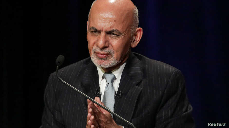 Afghanistan's President Ashraf Ghani speaks at a panel discussion at Asia Society in Manhattan, New York, Sept. 20, 2017.