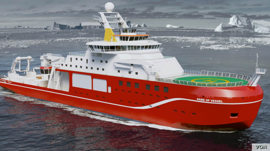 An artist's impression of the polar research vessel being built for Britain's Natural Environment Research Council. (NERC)