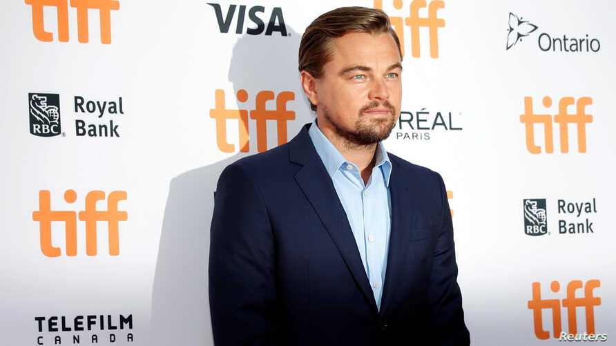 "Leonardo DiCaprio arrives on the red carpet for the film ""Before the Flood"" during the 41st Toronto International Film Festival (TIFF), in Toronto, Canada, Sept. 9, 2016."