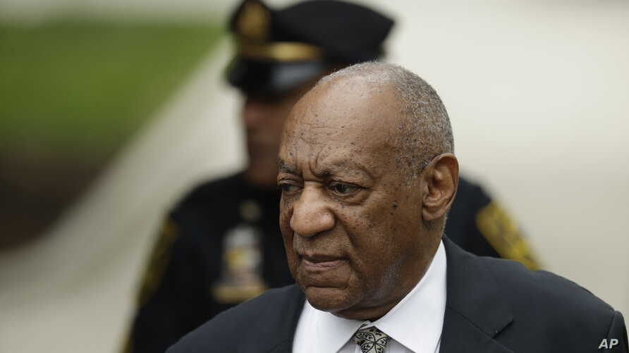 Bill Cosby arrives at the Montgomery County Courthouse during his sexual assault trial, June 15, 2017, in Norristown, Pa.