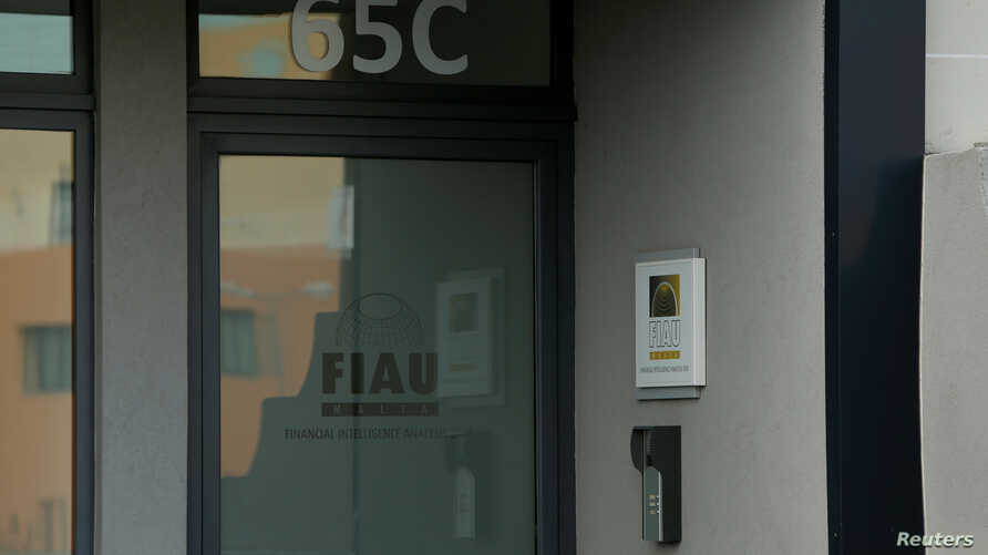 FILE - The office of Malta's Financial Intelligence Analysis Unit (FIAU), an anti-money laundering agency, is seen in Birkirkara, Malta, Oct. 28, 2017.