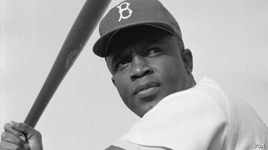 Jackie Robinson of the Brooklyn Dodgers in 1954.