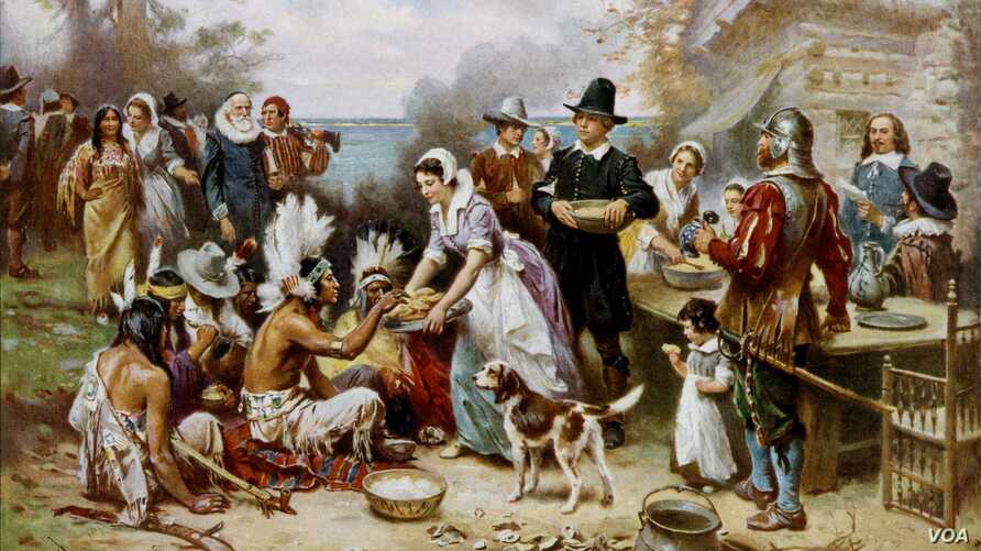 The First Thanksgiving by Jean Leon Gerome Ferris.