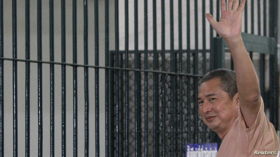 """Somyot Prueksakasemsuk, editor of """"Voice of the Oppressed,"""" seen here on Jan. 23, 2013, was jailed for 10 years for insulting Thailand's royal family."""