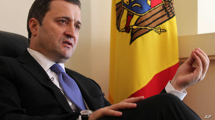 """FILE - Vlad Filat, pictured in March 2012, says he will cooperate with the Moldovan government's bank fraud probe """"with the hope that this will be a fair and correct proceeding."""""""