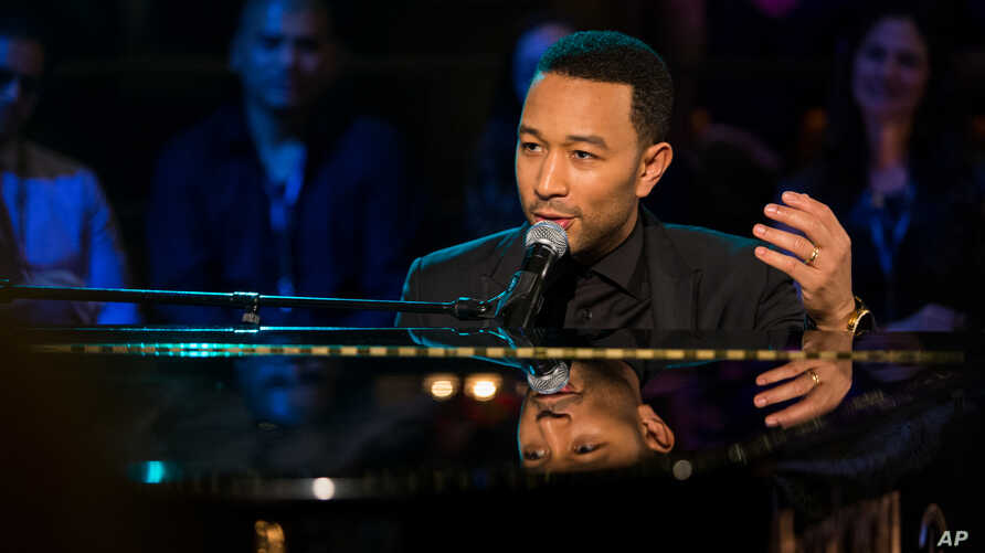 John Legend performs during a private event at the Emerson Theater on Monday, April 21, 2014 in Hollywood, Calif.