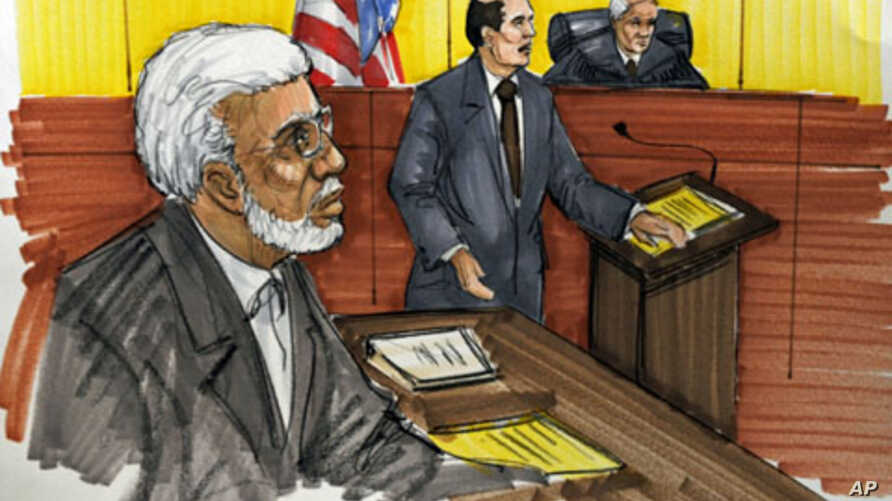 In this courtroom sketch, Chicago businessman Tahawwur Rana is shown in federal court in Chicago. Rana, 50, is accused in the 2008 Mumbai rampage that left more than 160 people dead, and planning an attack that was never carried out on a Danish newsp