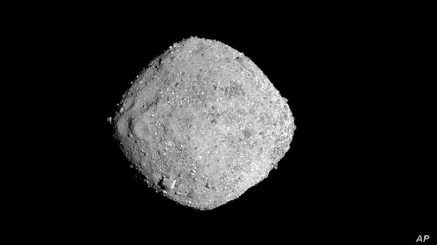 This Nov. 16, 2018, image provide by NASA shows the asteroid Bennu.