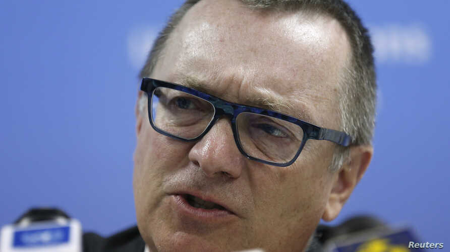 United Nations official Jeffrey Feltman addresses a news conference, March 3, 2015.