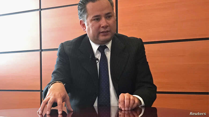 Santiago Nieto, who was presented as the next head of the country's financial crimes unit, speaks during an interview with Reuters in Mexico City, Mexico, Sept. 14, 2018.