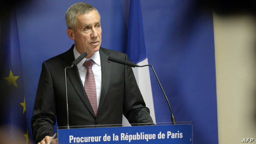 Paris chief prosecutor Francois Molins delivers a speech during a press conference concerning Ayoub El-Khazzani, the suspect in August 21st Thalys train attack, in Paris, Aug. 25, 2015.