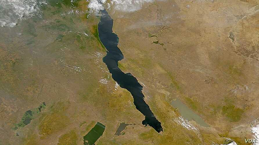 Lake Tanganyika Image from NASA's SeaWIFs project