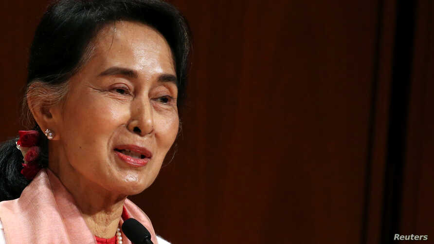 Myanmar's Minister of Foreign Affairs Aung San Suu Kyi