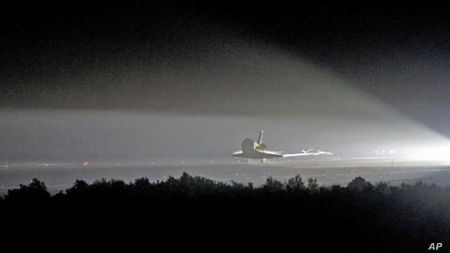 Space shuttle Endeavour on the STS-134 mission made its final landing at the Shuttle Landing Facility at Kennedy Space Center in Cape Canaveral, Florida, June 1, 2011
