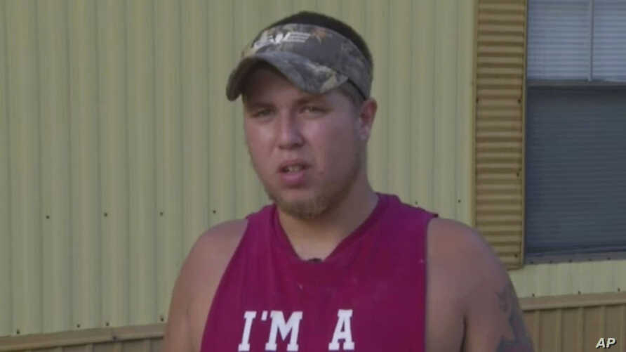 FILE - In this June 18, 2015, file frame from video, Joey Meek, friend of Dylann Roof who is accused of killing nine black church members during Bible study on June 17 in Charleston, S.C., speaks to The Associated Press. Meek, the only person to whom
