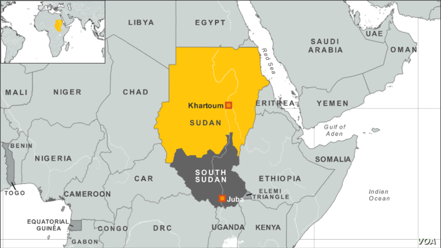 Africa Map With South Sudan.S Sudan Violates Human Rights Commission Says Voice Of