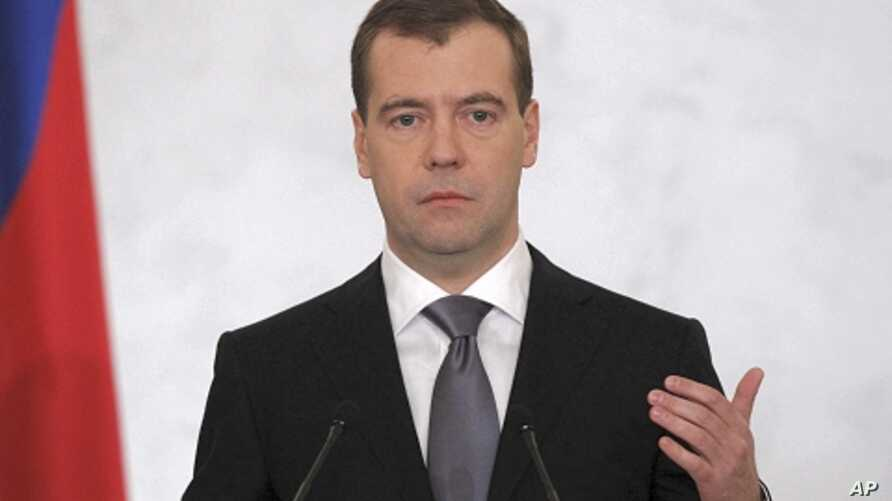 Russia's President Dmitry Medvedev makes his annual state of the nation address at the Kremlin in Moscow December 22, 2011.