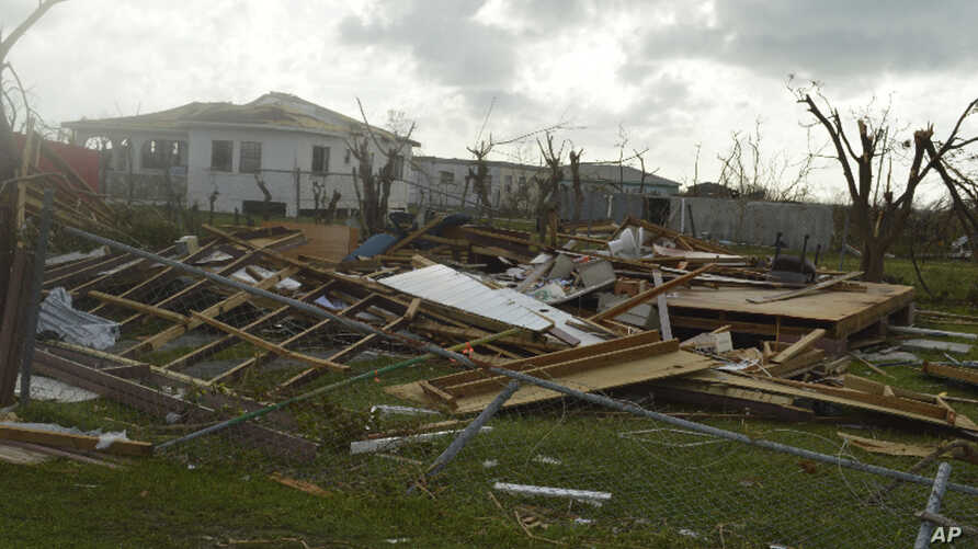 Damage is left after Hurricane Irma hit Barbuda, Sept. 7, 2017.