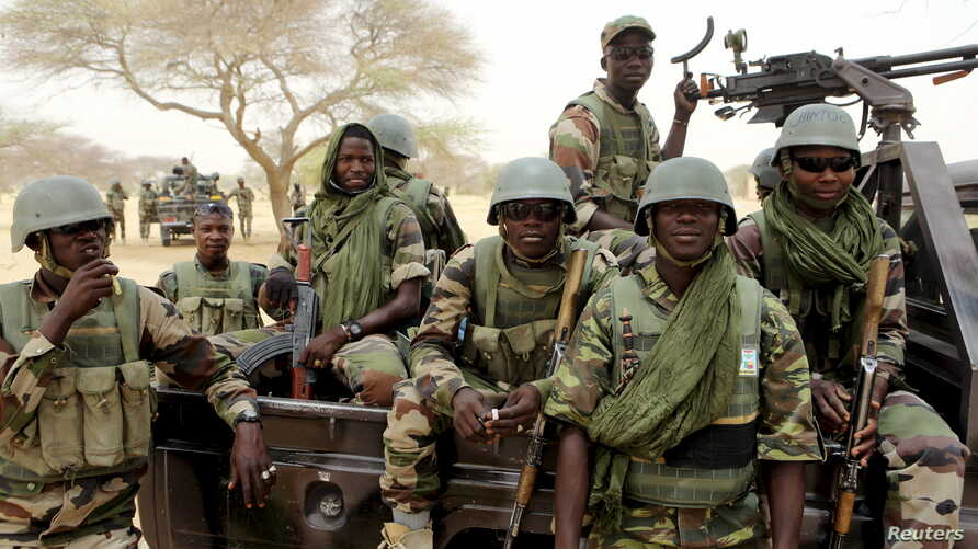 Niger's special forces prepare to fight Boko Haram in Diffa, March 26, 2015. Niger said it lost 46 soldiers and 28 civilians in weekend clashes with the Islamist militants.