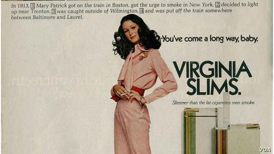 A photo of the famed ad for Virginia Slims cigarettes. (photo credit: Creative Commons)