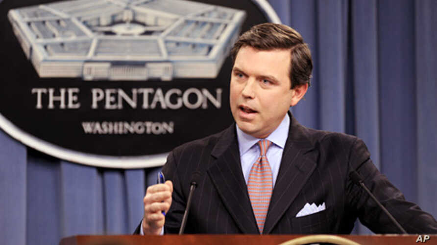 Pentagon Press Secretary Geoff Morrell during a press briefing at the Pentagon (file)