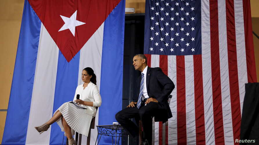 President Obama attends a meeting with entrepreneurs as part of his three-day visit to Cuba, in Havana March 21, 2016.