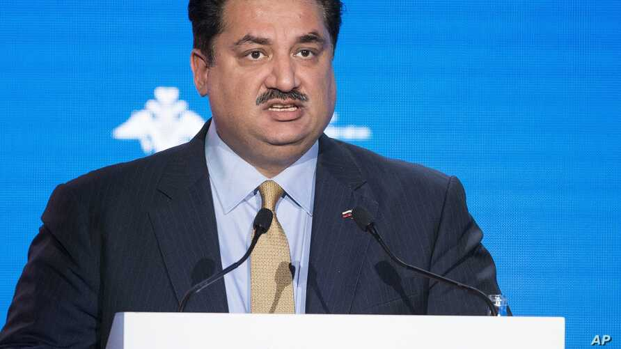 FILE - Pakistan Foreign Minister Khurram Dastgir Khan speaks during the Conference on International Security.