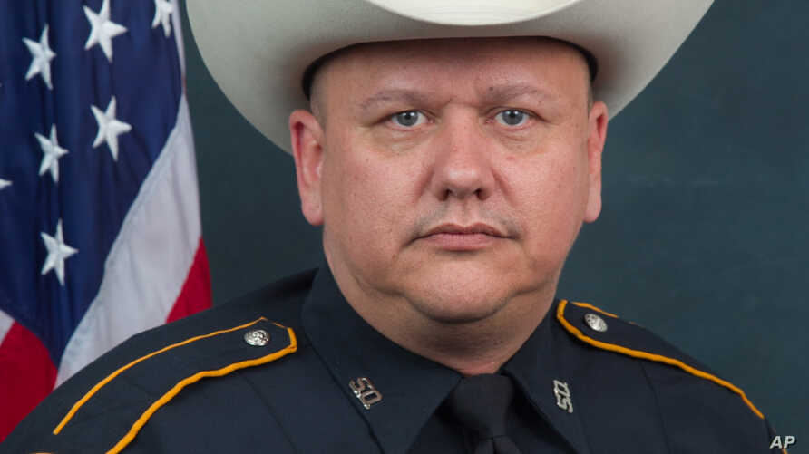 This undated photo provided by the Harris County (Texas) Sheriff's Office shows Sheriff's Deputy Darren Goforth, who was fatally shot Aug. 28, 2015.