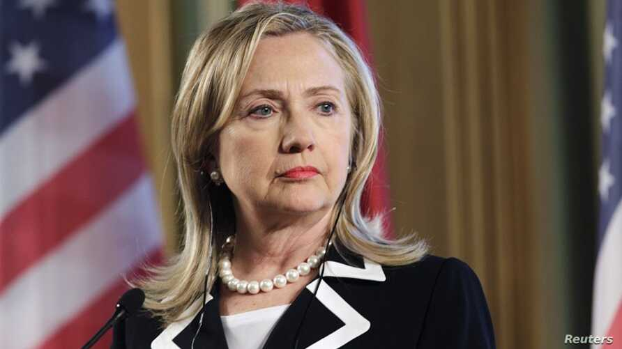 U.S. State Secretary Hillary Clinton listens during a news conference in Riga, Latvia June 28, 2012.