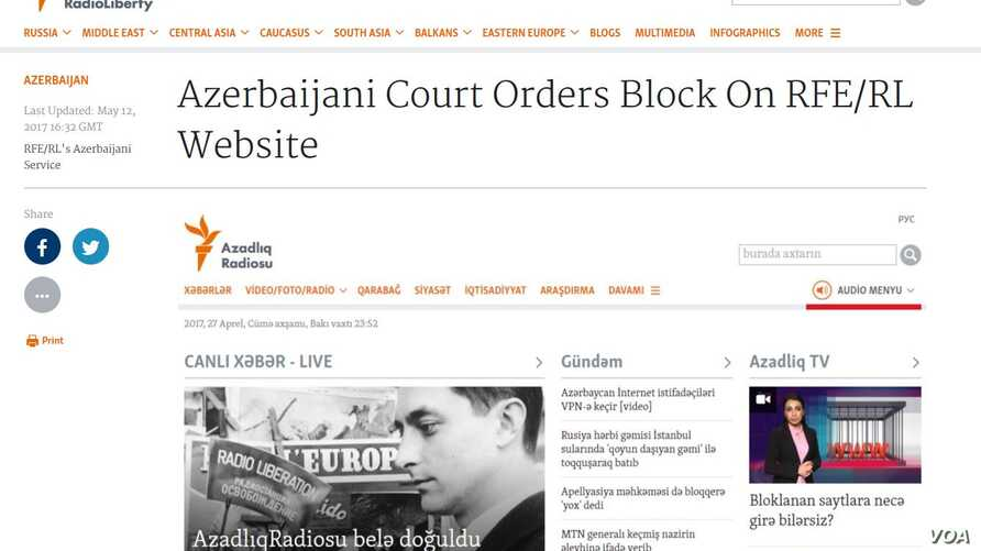 VOA's Azerbaijan website.