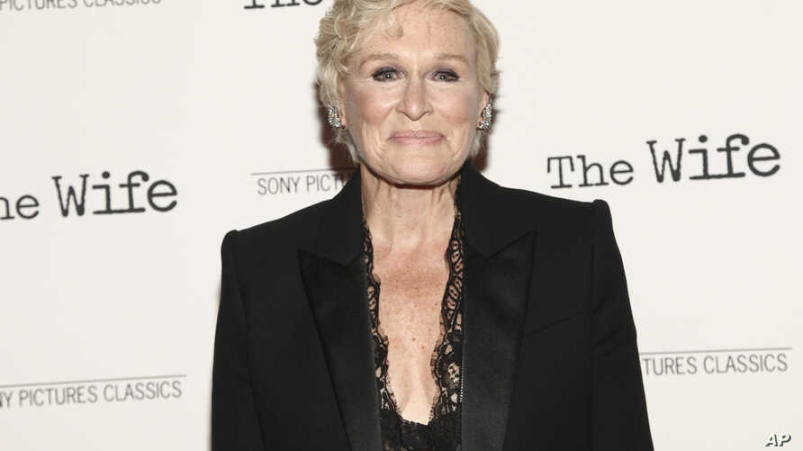 "FILE - Glenn Close attends a special screening of Sony Pictures Classics' ""The Wife"" at the Paley Center in New York, July 26, 2018."