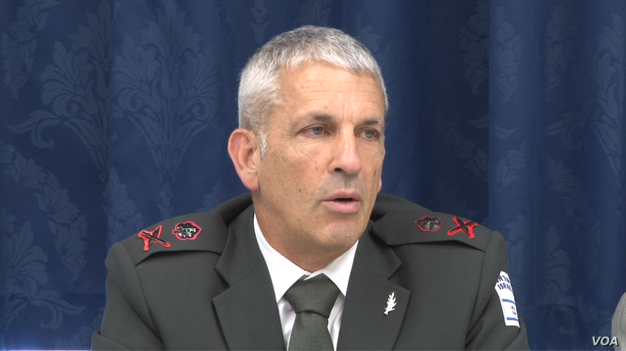 Israeli Maj. Gen. Michael Edelstein participates in a Jewish Policy Center event at the Cannon House Office Building in Washington, July 11, 2018.
